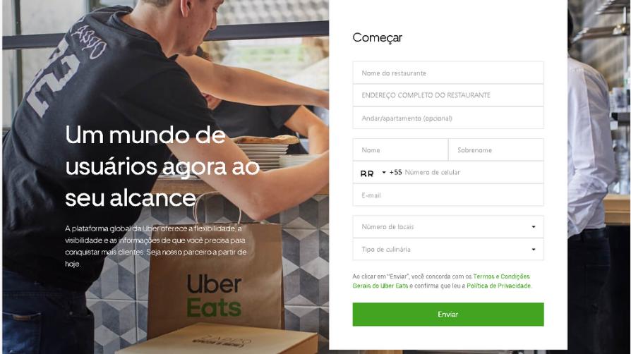 Como vender no uber eats