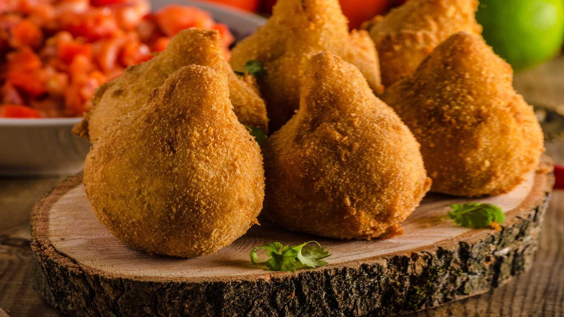 Receitas saudáveis - Coxinha de frango sem farinha