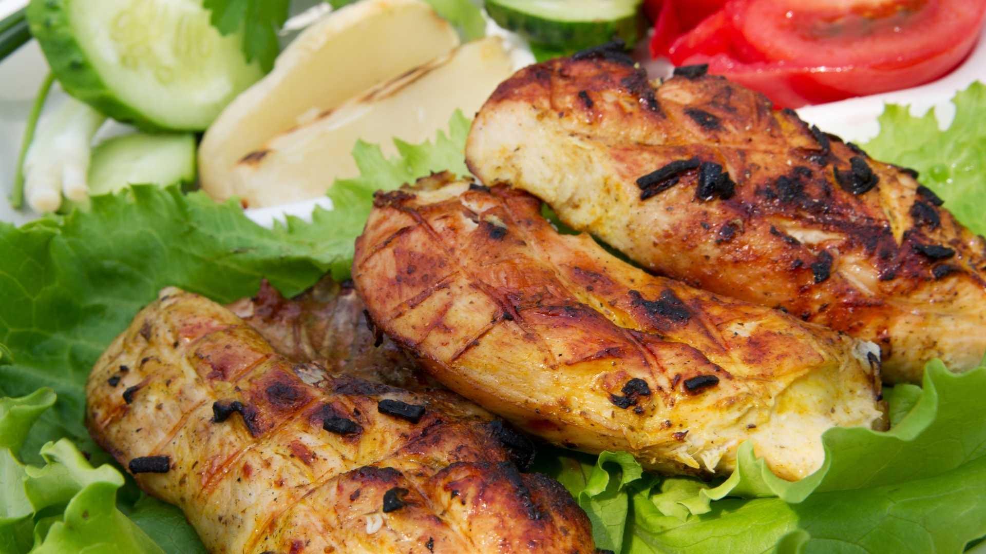 Receitas saudáveis - Frango Grelhado com Legumes
