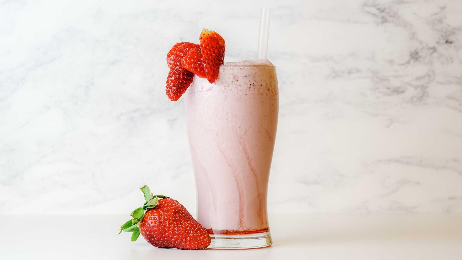 Shake para emagrecer de iogurte