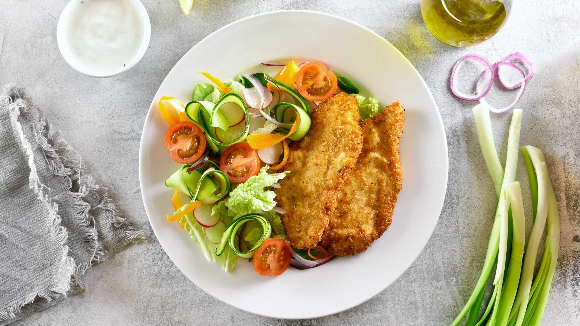 Receita fit de frango empanado