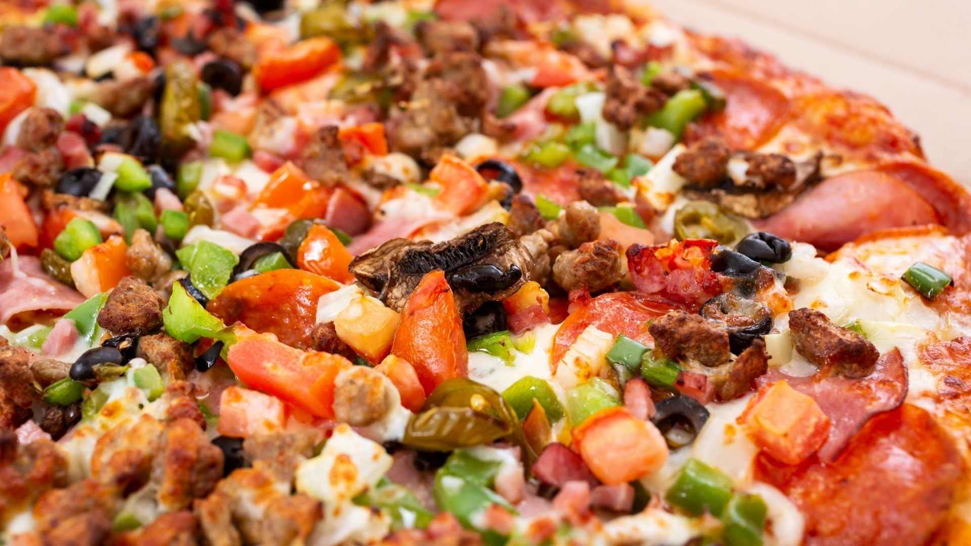 Pizza saudável de carne