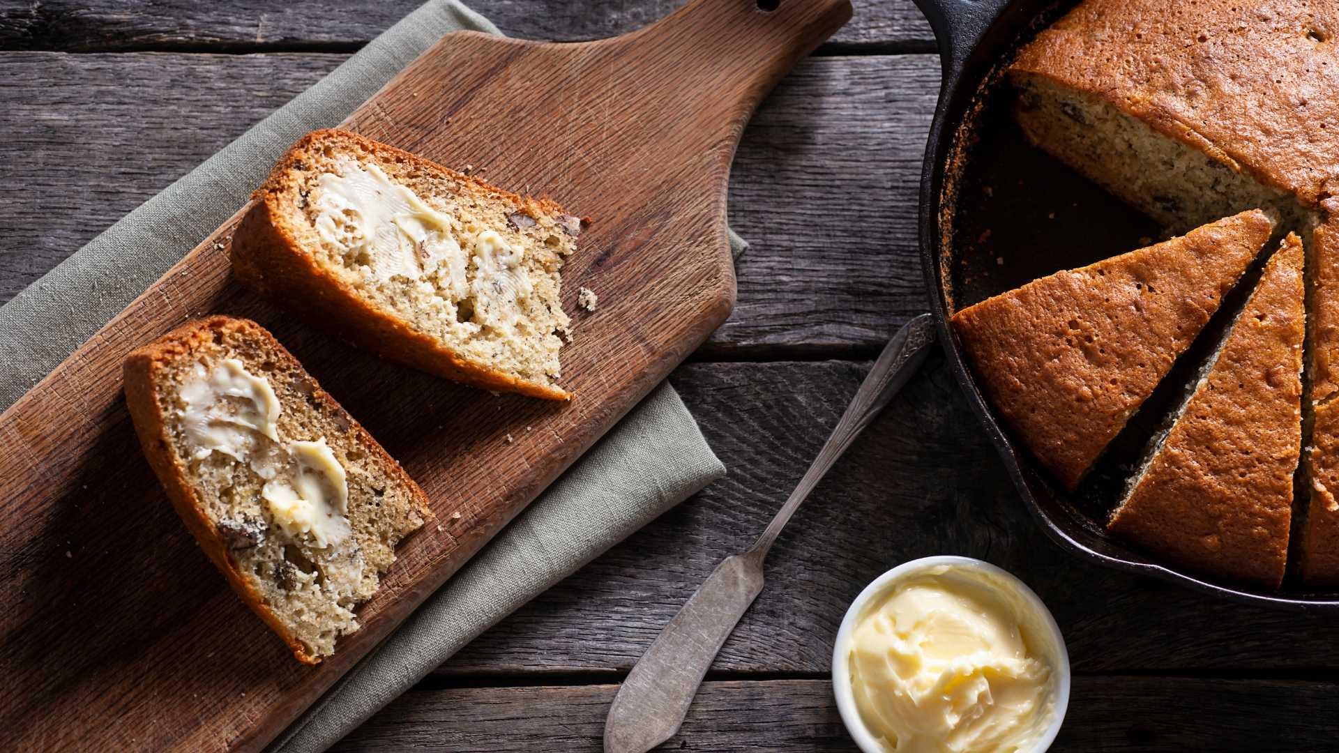 Pão caseiro fit de frigideira