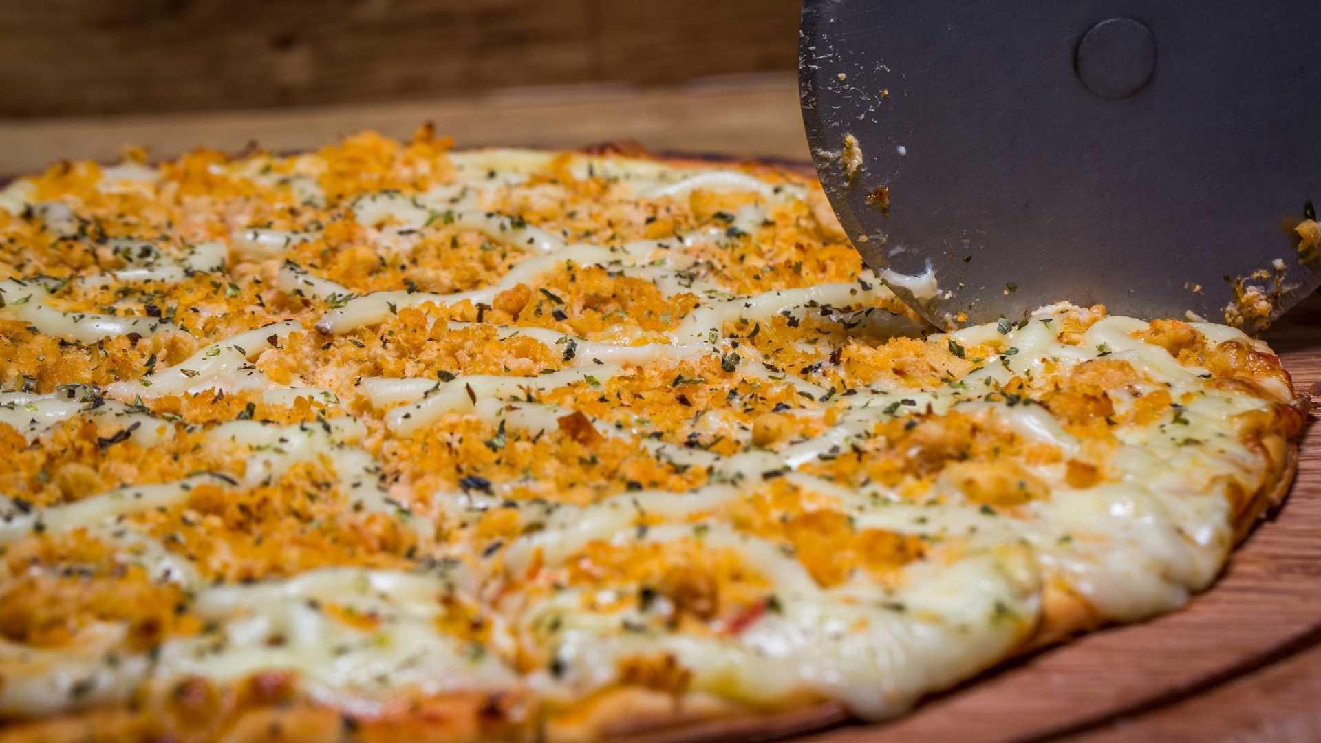 Receita de pizza de frango de liquidificador