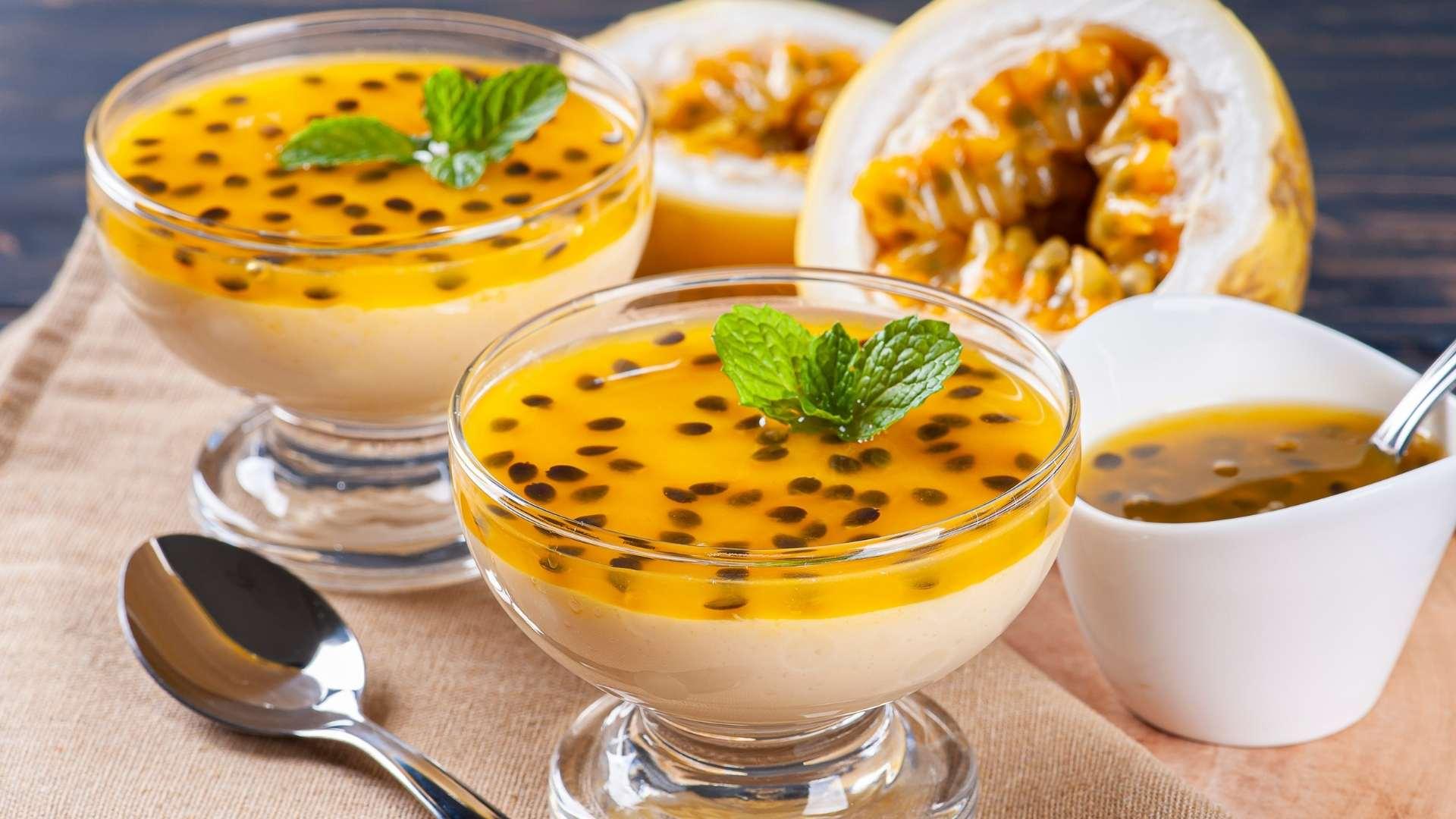Receita de Mousse de Maracujá com suco
