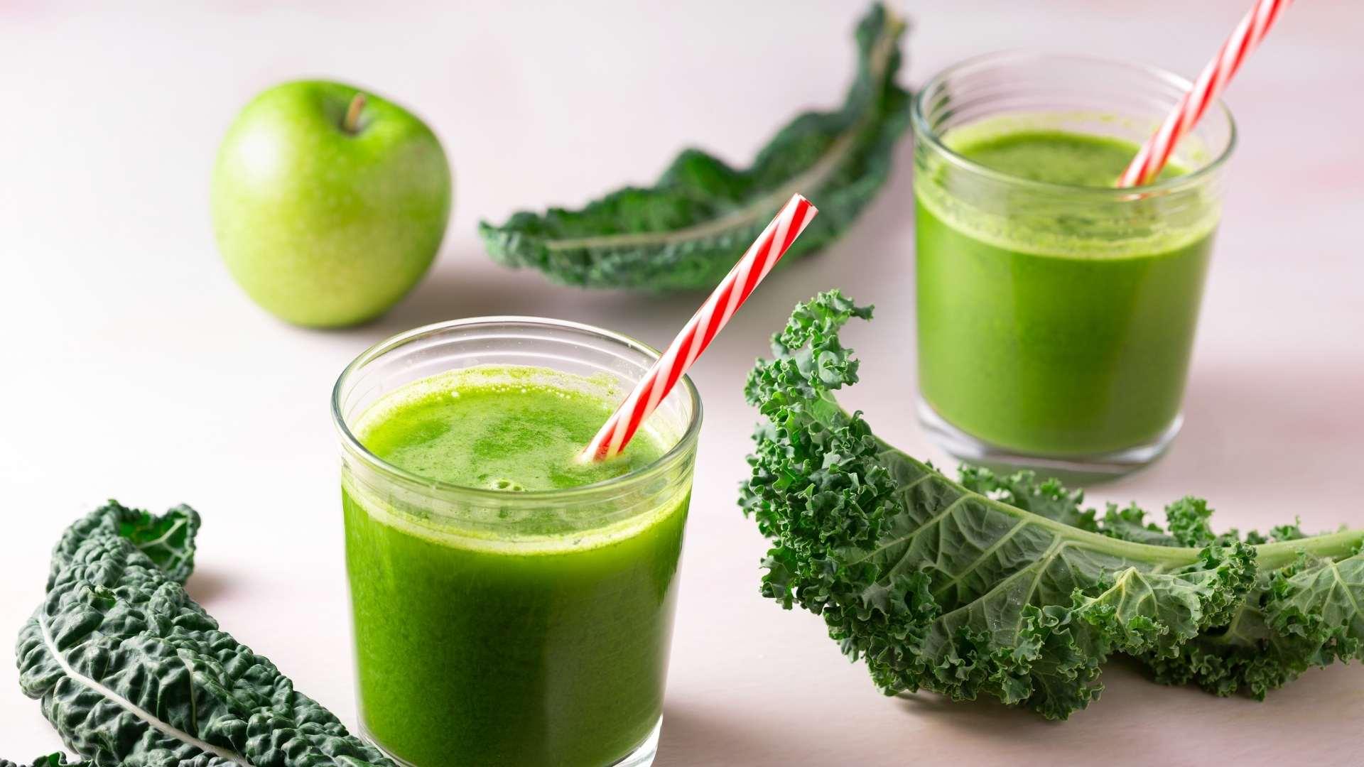 Receita de Suco de maçã verde com couve