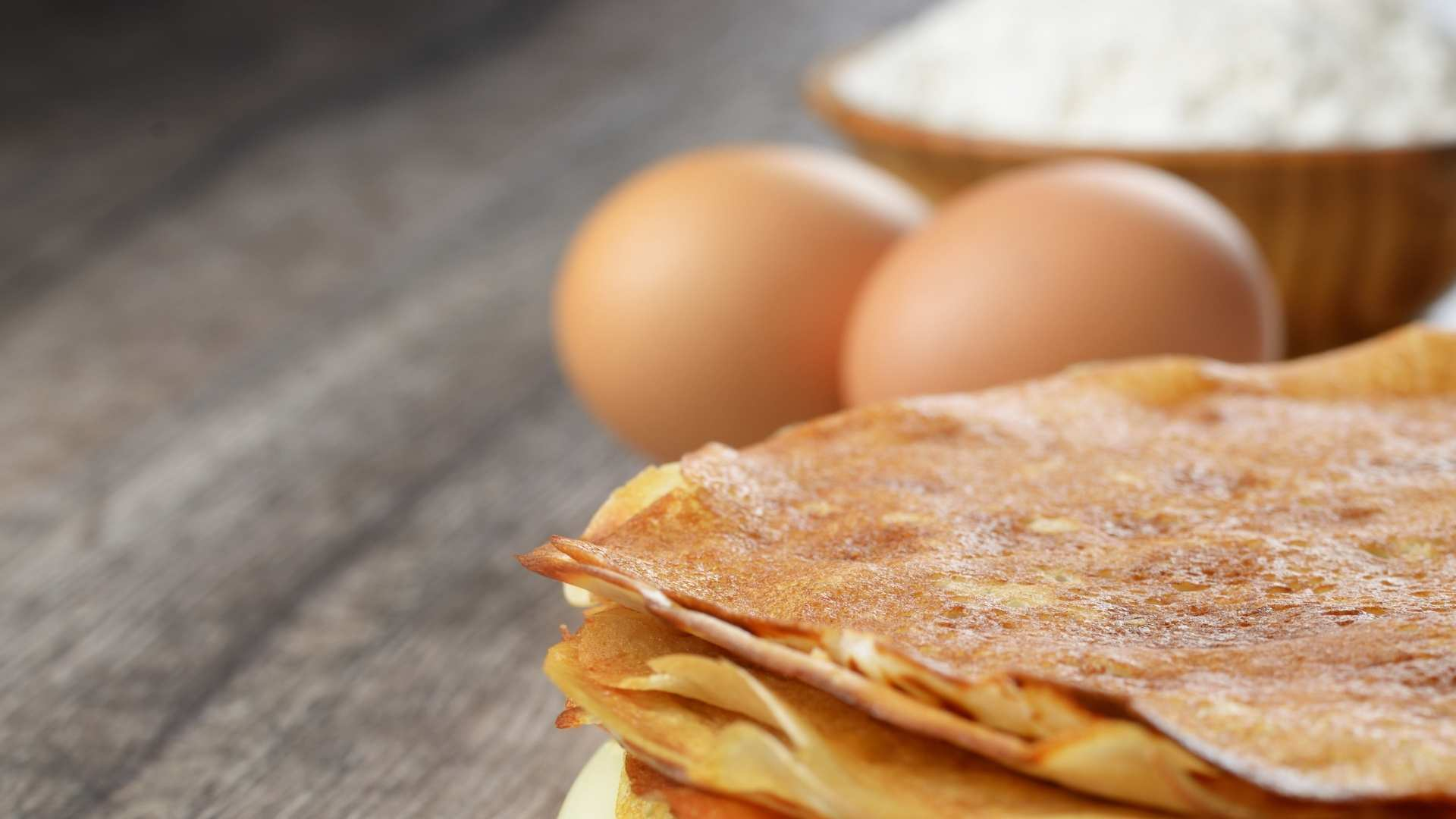 Receita de panqueca de maizena com ovos