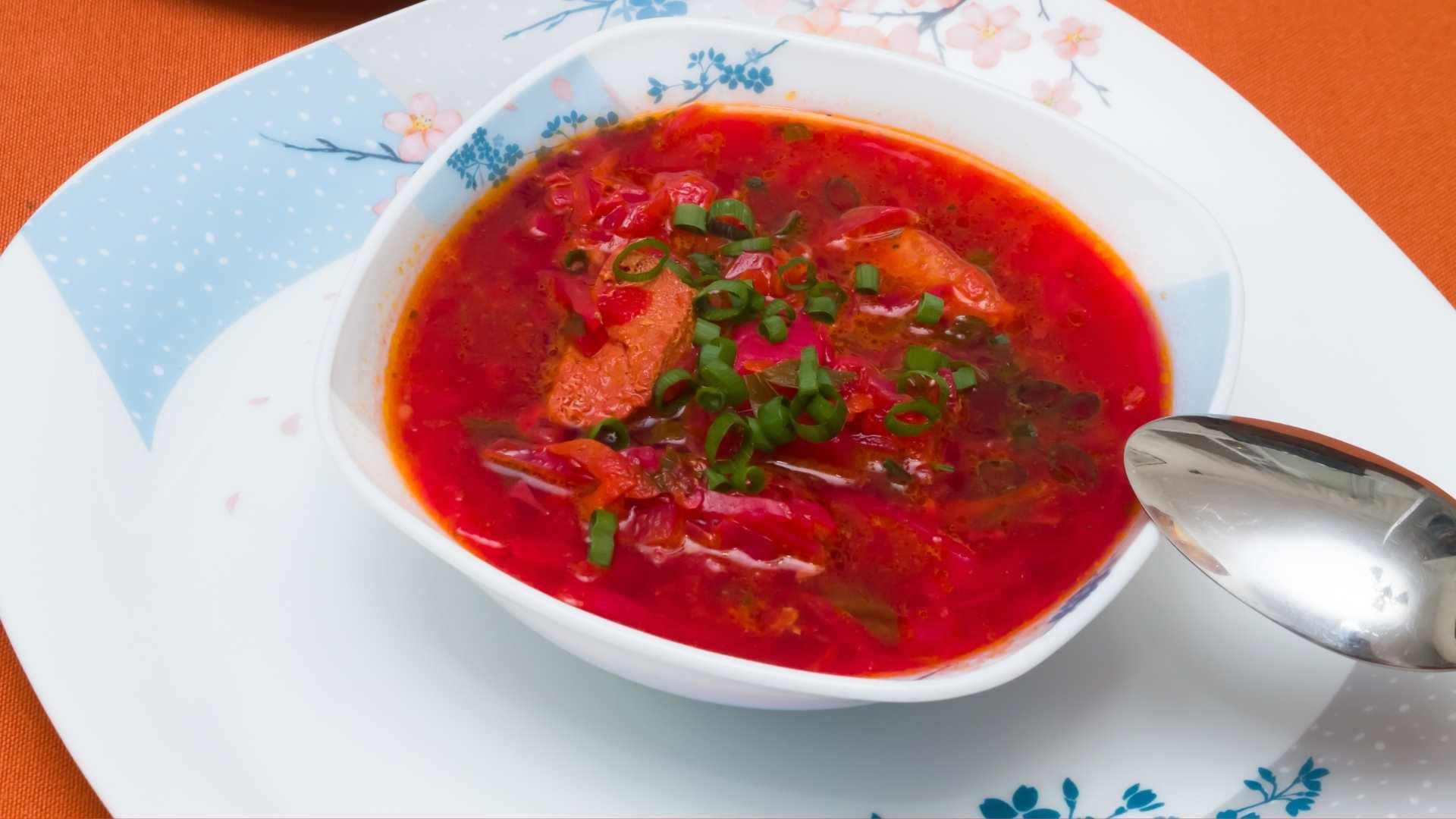 Receita de sopa de beterraba