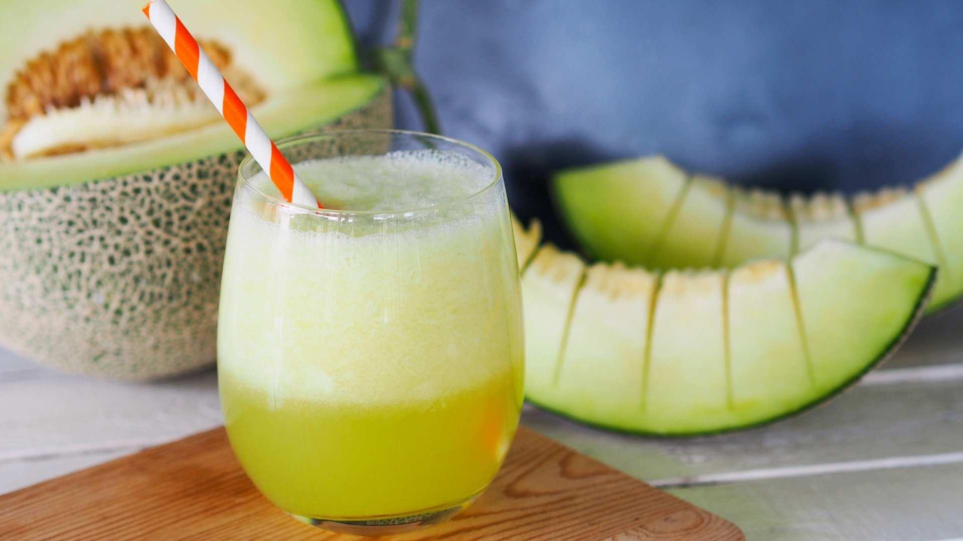 Receita de suco de melão com limão