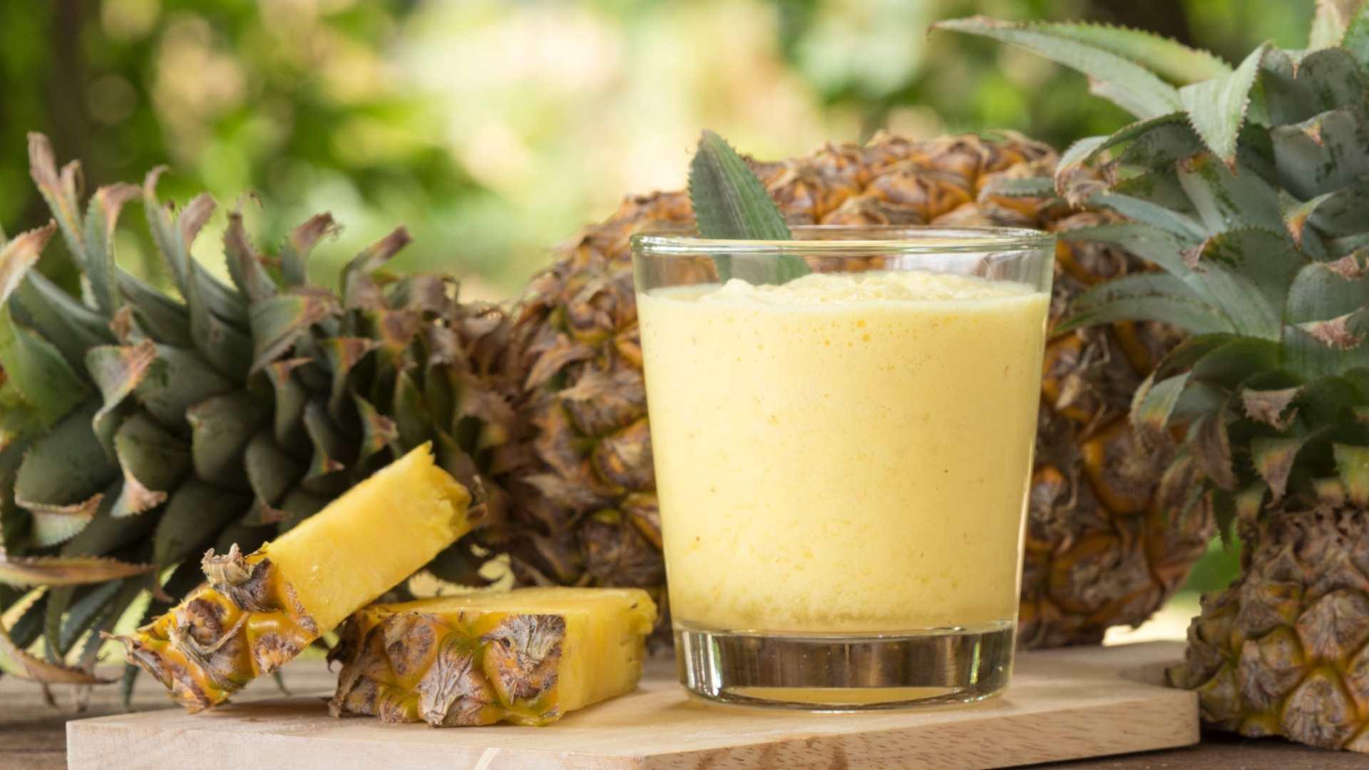Receita de suco detox de Abacaxi