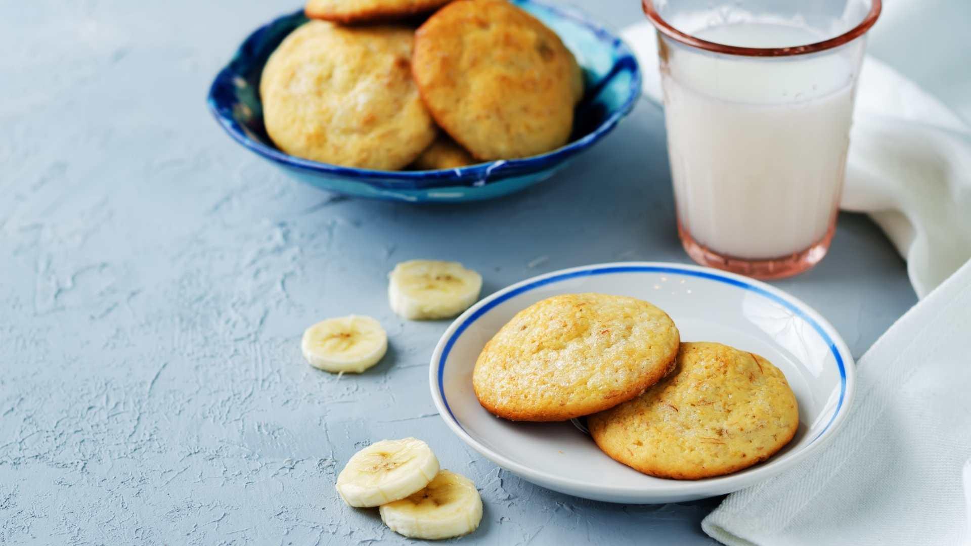 Receita de Cookies de Banana