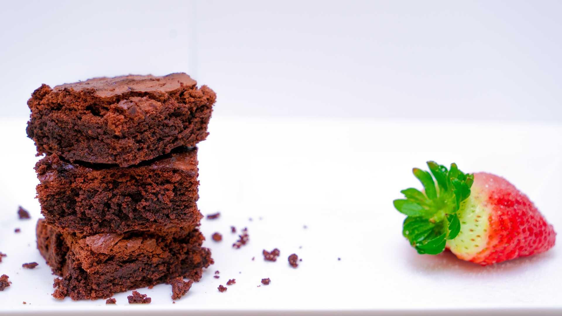 Receita de Brownie de Morango