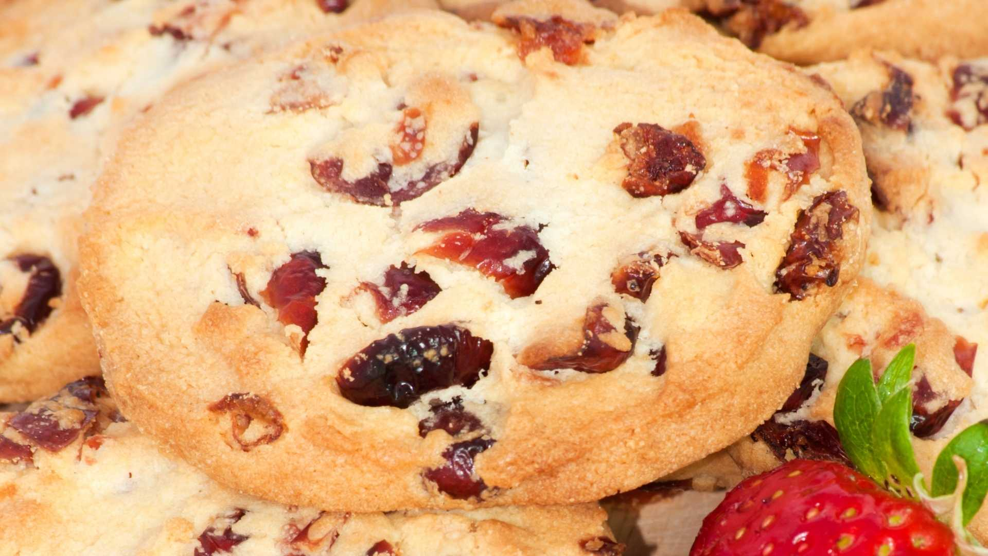 Receita de Cookies de Morango