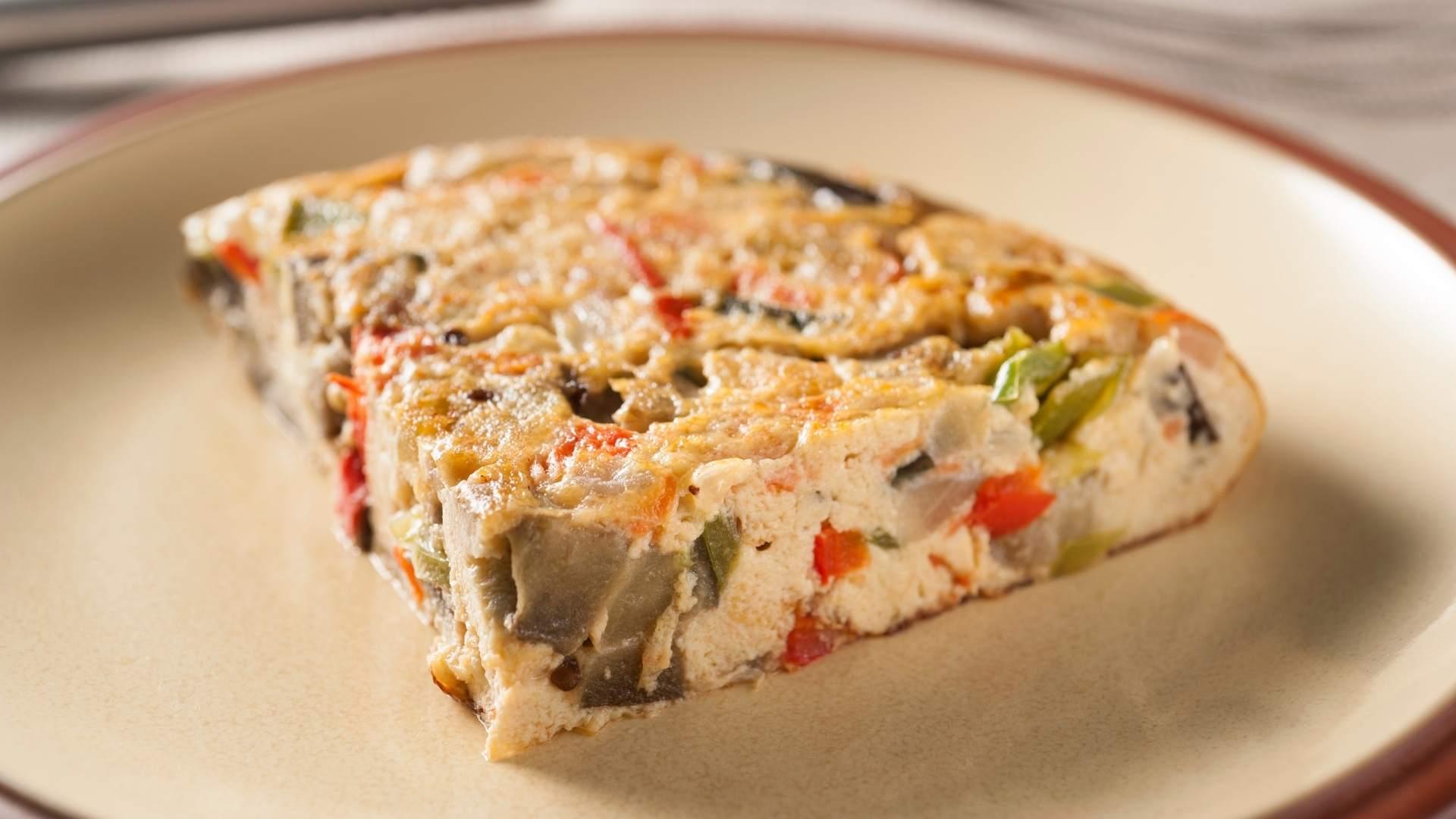 Receita de Omelete com Aveia e Legumes