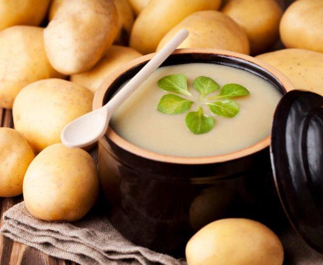 Receita de Sopa de Creme de Batata